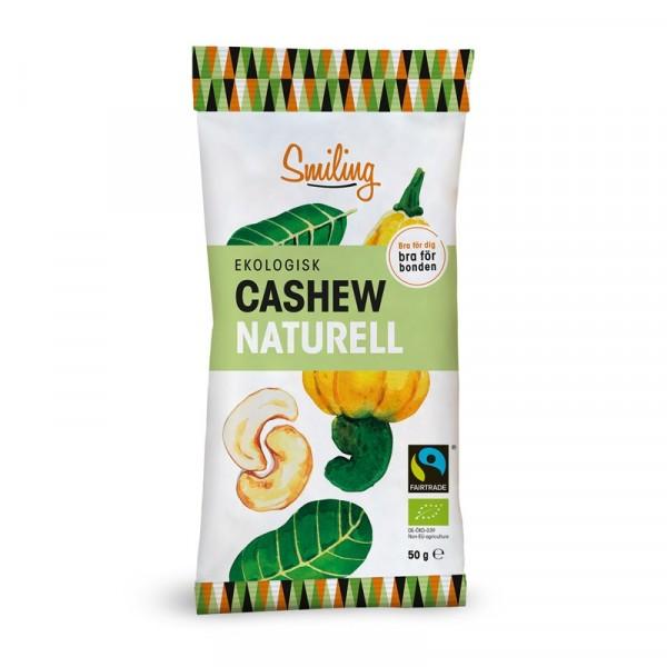 Cashewnötter, Naturell 20x50g Smiling #1012