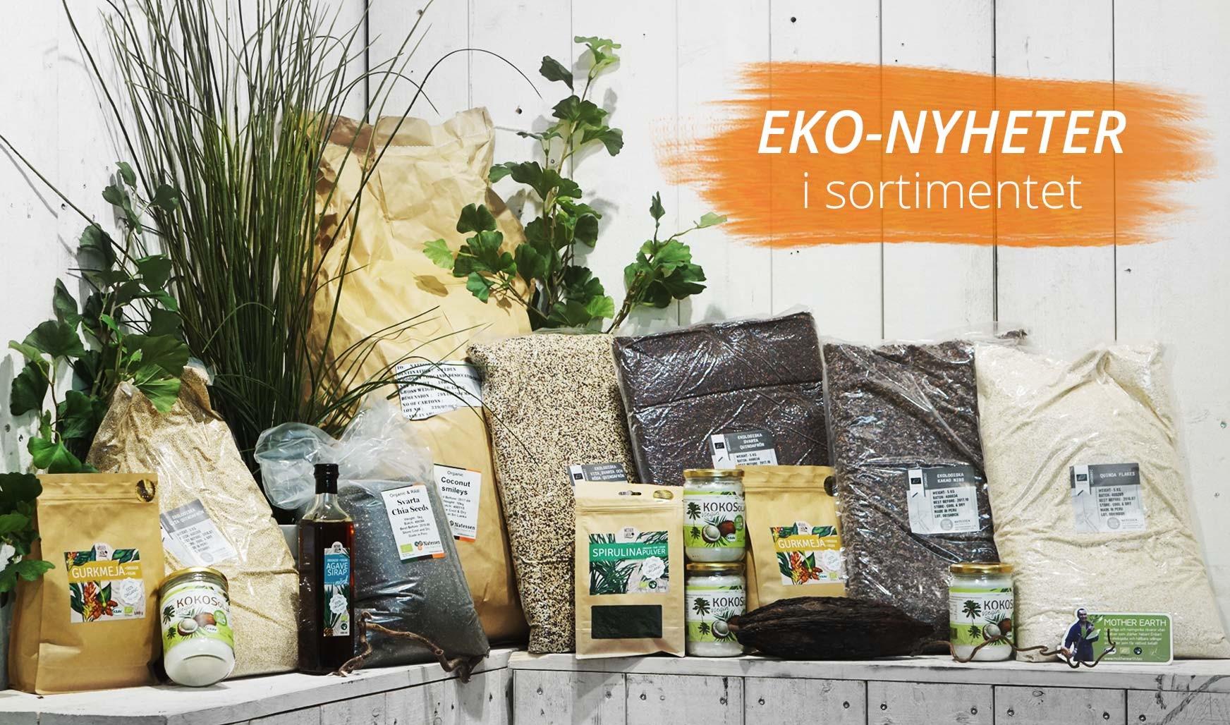 Ekologiska råvaror från Mother Earth