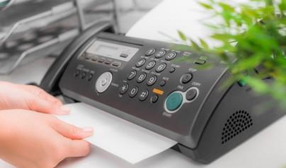 Nu tar vi emot order via fax!