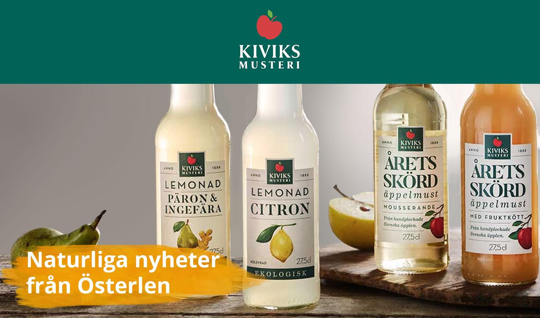 Törstsläckande drycker från Kiviks Musteri