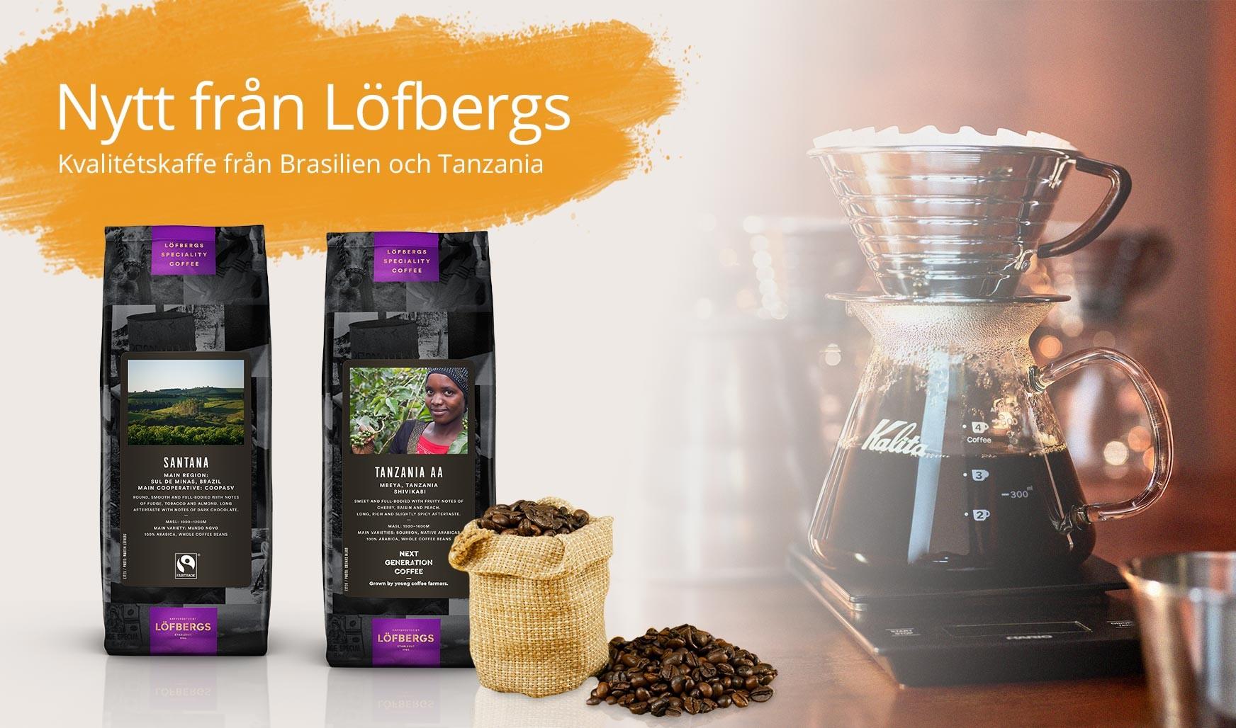 Två speciella specialkaffen från Löfbergs
