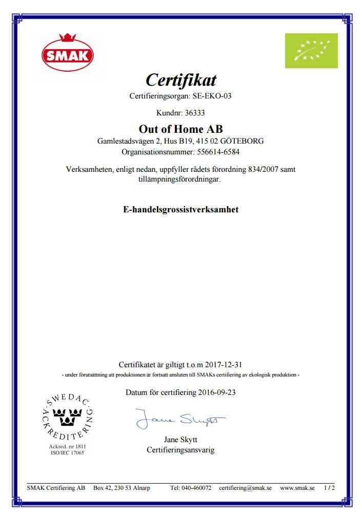 ekologisk certifierad grossist